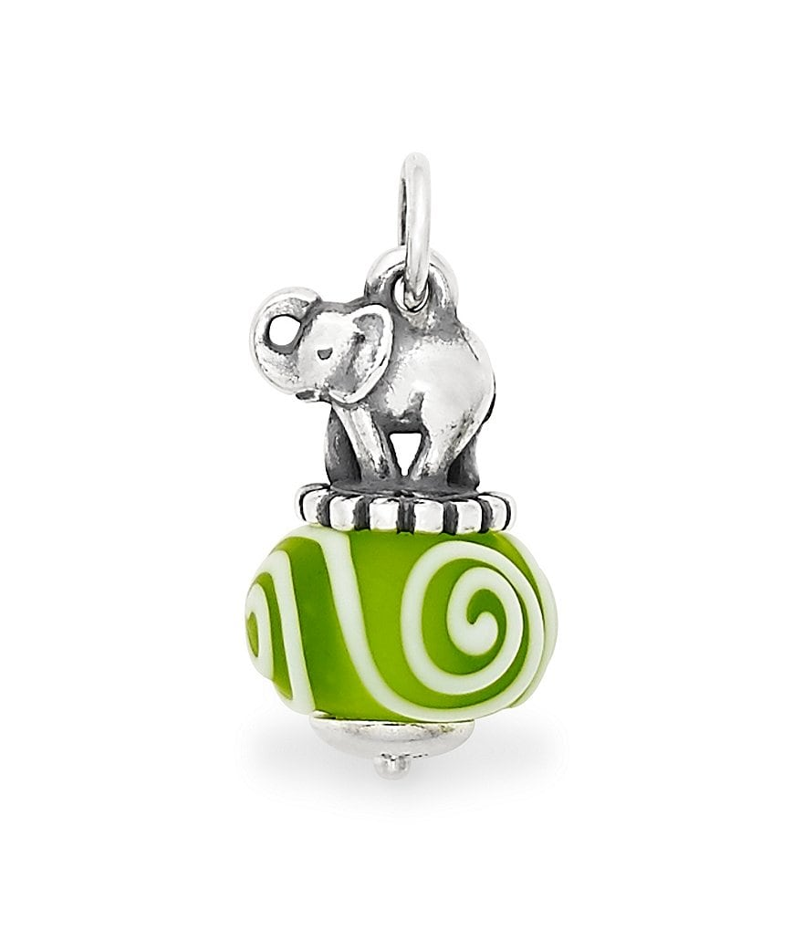 James Avery Elephant Art Glass Charm