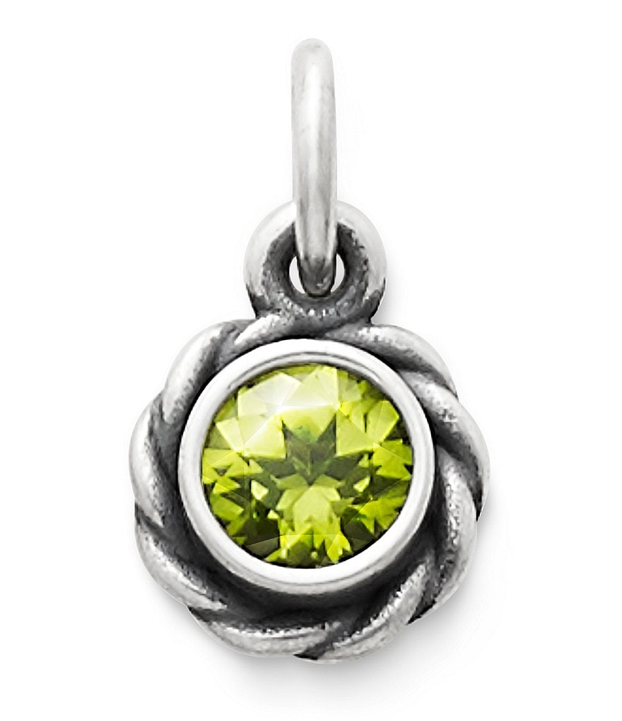 James Avery Elisa Pendant August Birthstone with Peridot