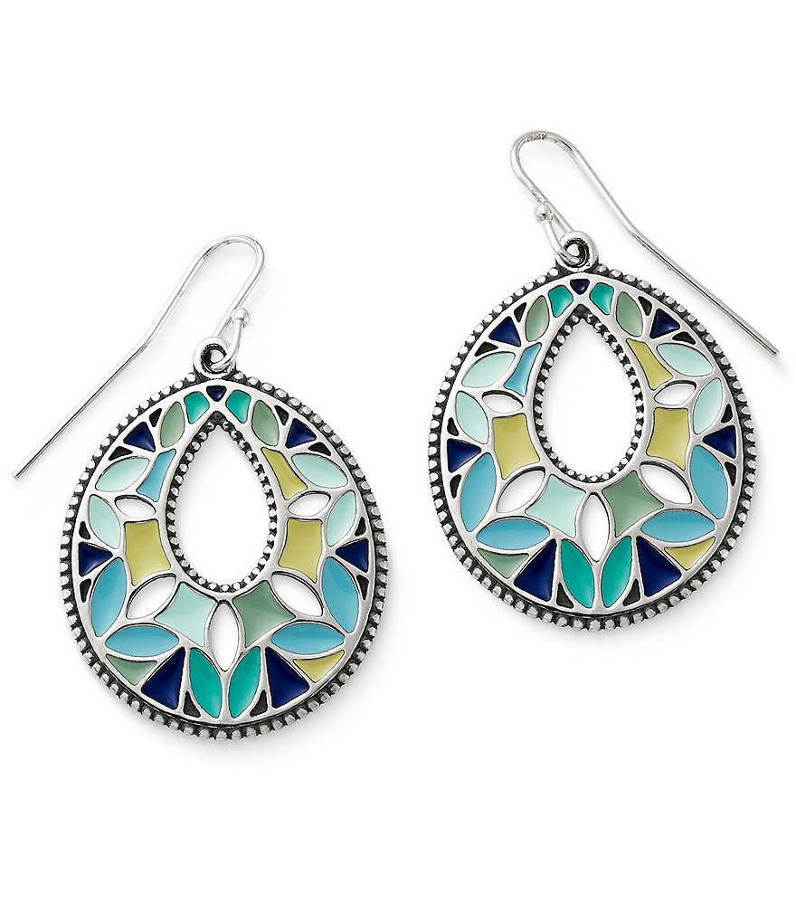James Avery Enamel Byzantine Earrings
