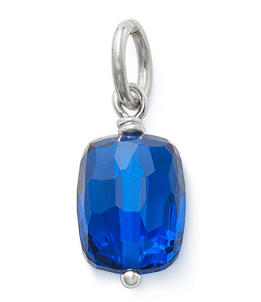 James Avery Faceted Lab-Created Blue Spinel Birthstone Charm