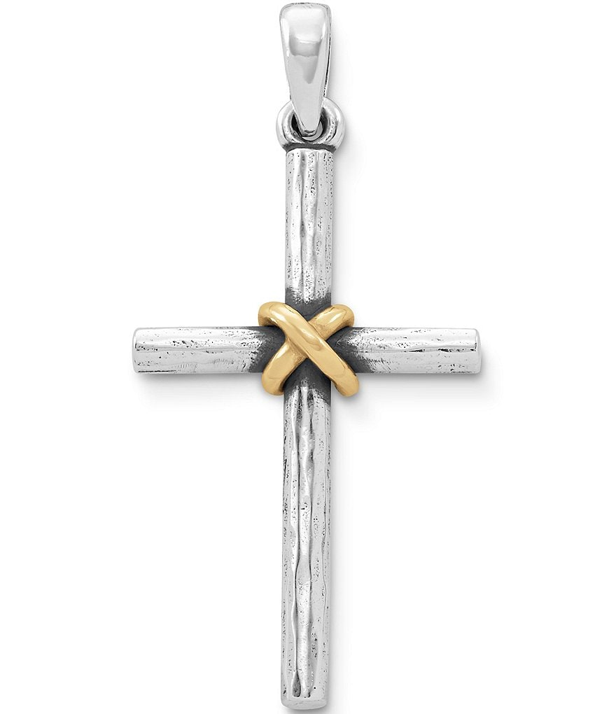 James Avery Forged Cross with Gold Wrap Pendant