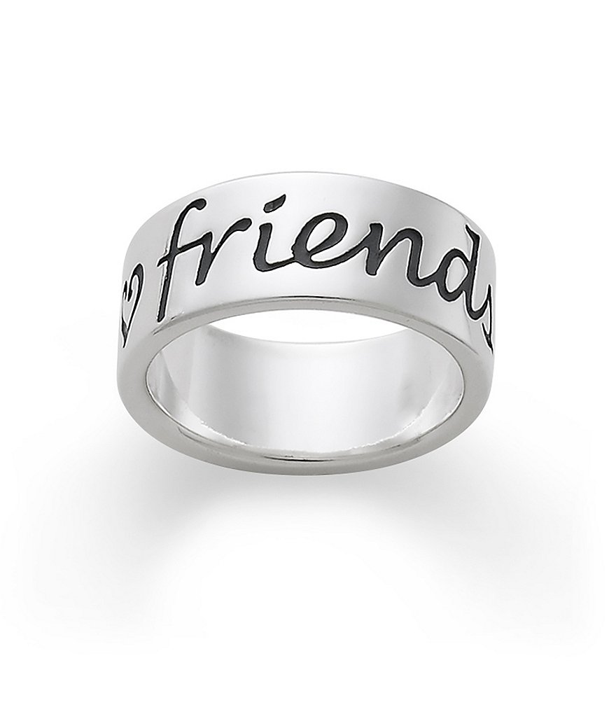 James Avery Friends Forever Engraved Sterling Silver Band Ring