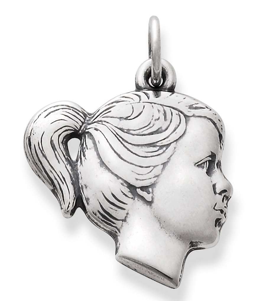 James Avery Girl's Profile Charm