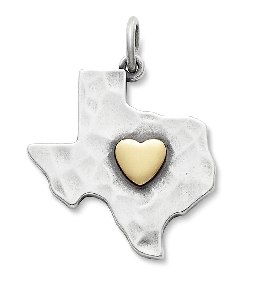 James Avery Golden Heart of Texas Pendant