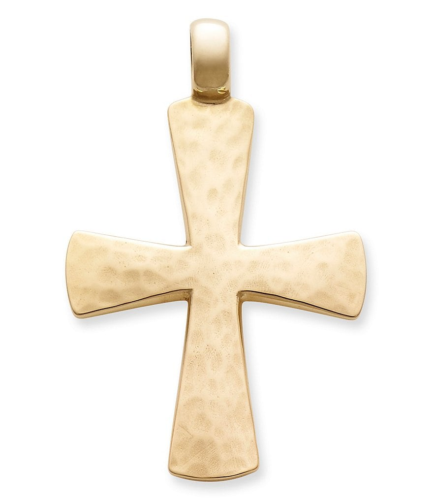 James Avery Mens Cross Necklace: James Avery Hammered Cross Pendant