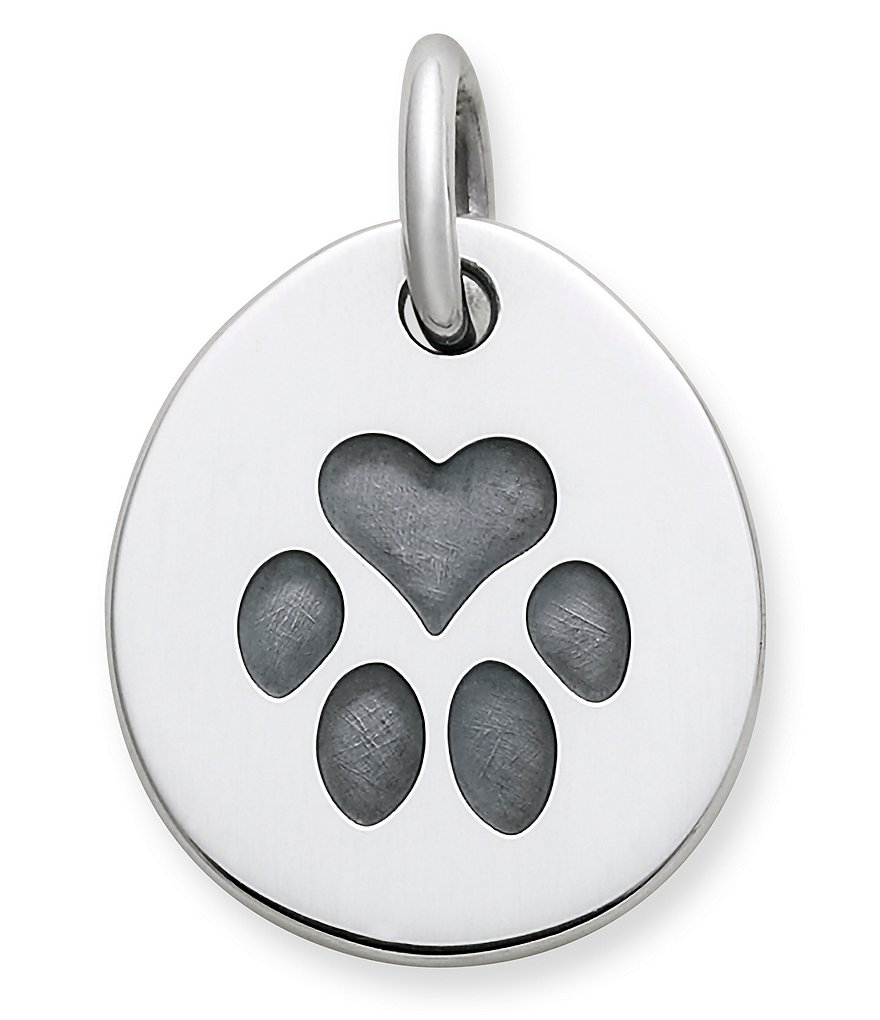 James Avery Heart Paw Pet Tag Charm