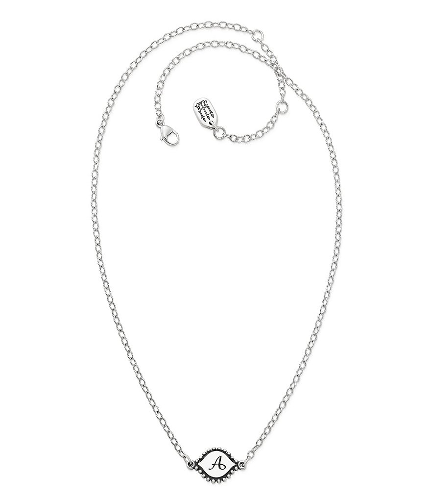 James Avery Memoir Initial Pendant Necklace