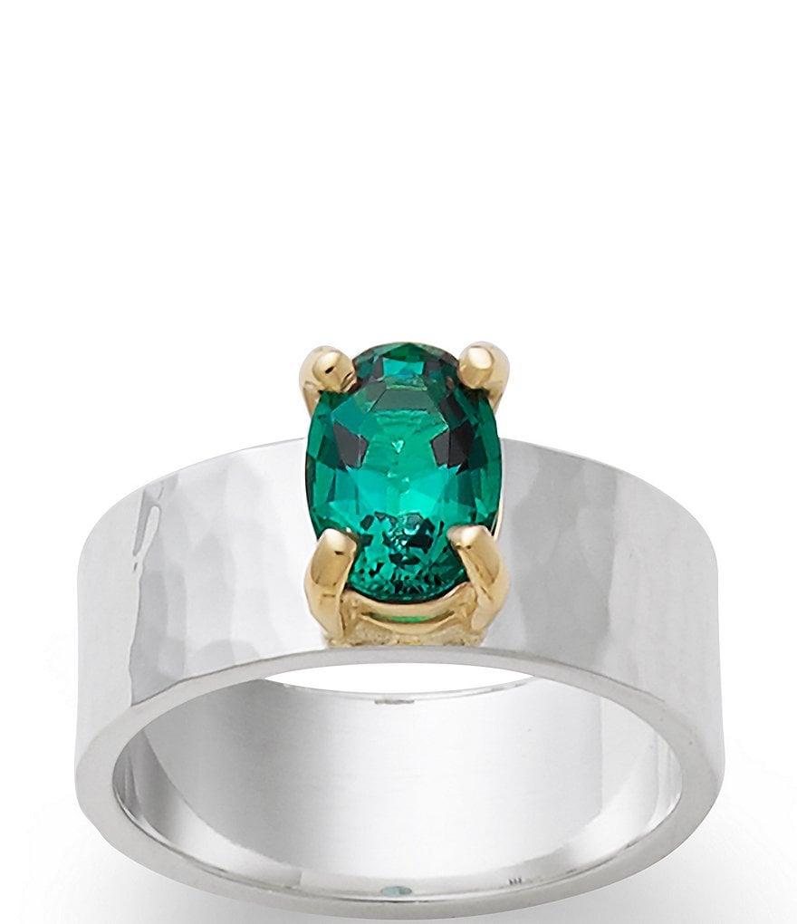 James Avery Julietta May Birthstone Ring with Lab-Created Emerald