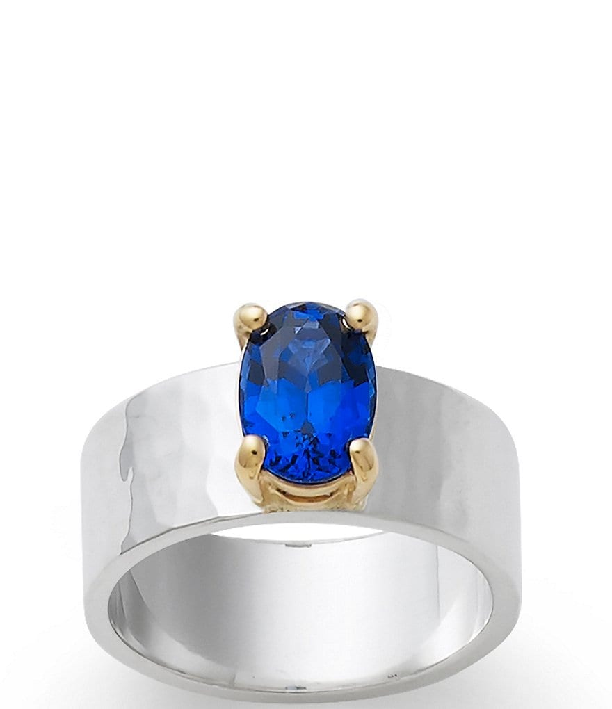 James Avery Julietta September Birthstone Ring with Lab-Created Blue Sapphire