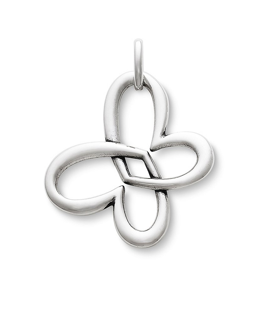 James Avery Linked Heart Butterfly Sterling Silver Pendant