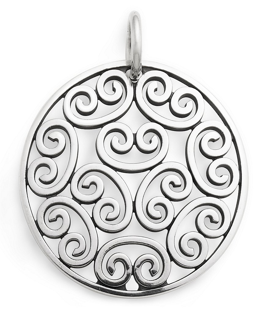 James Avery Moroccan Disc Sterling Silver Pendant