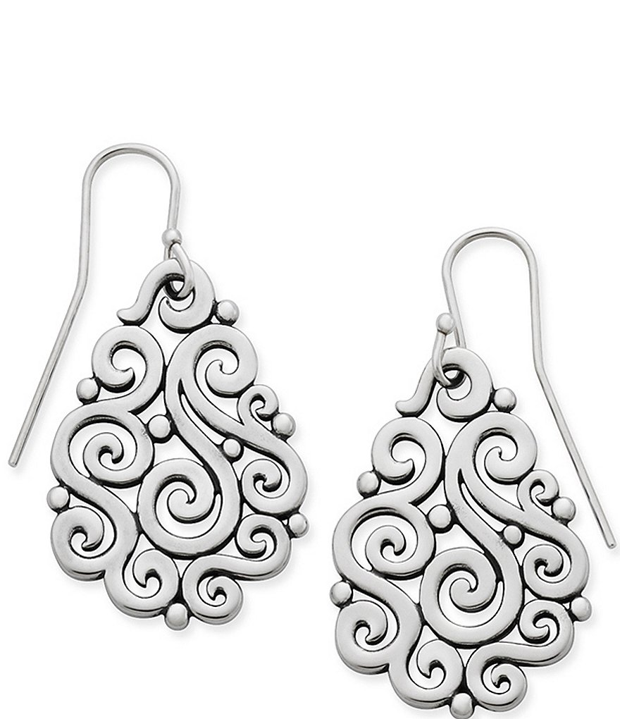 James Avery Open Sorrento Sterling Silver Drop Earrings
