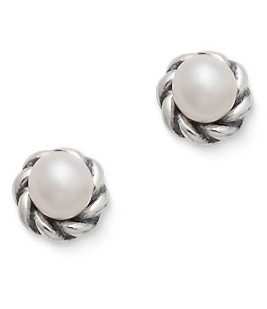 James Avery Pee Freshwater Cultured Pearl Stud Earrings