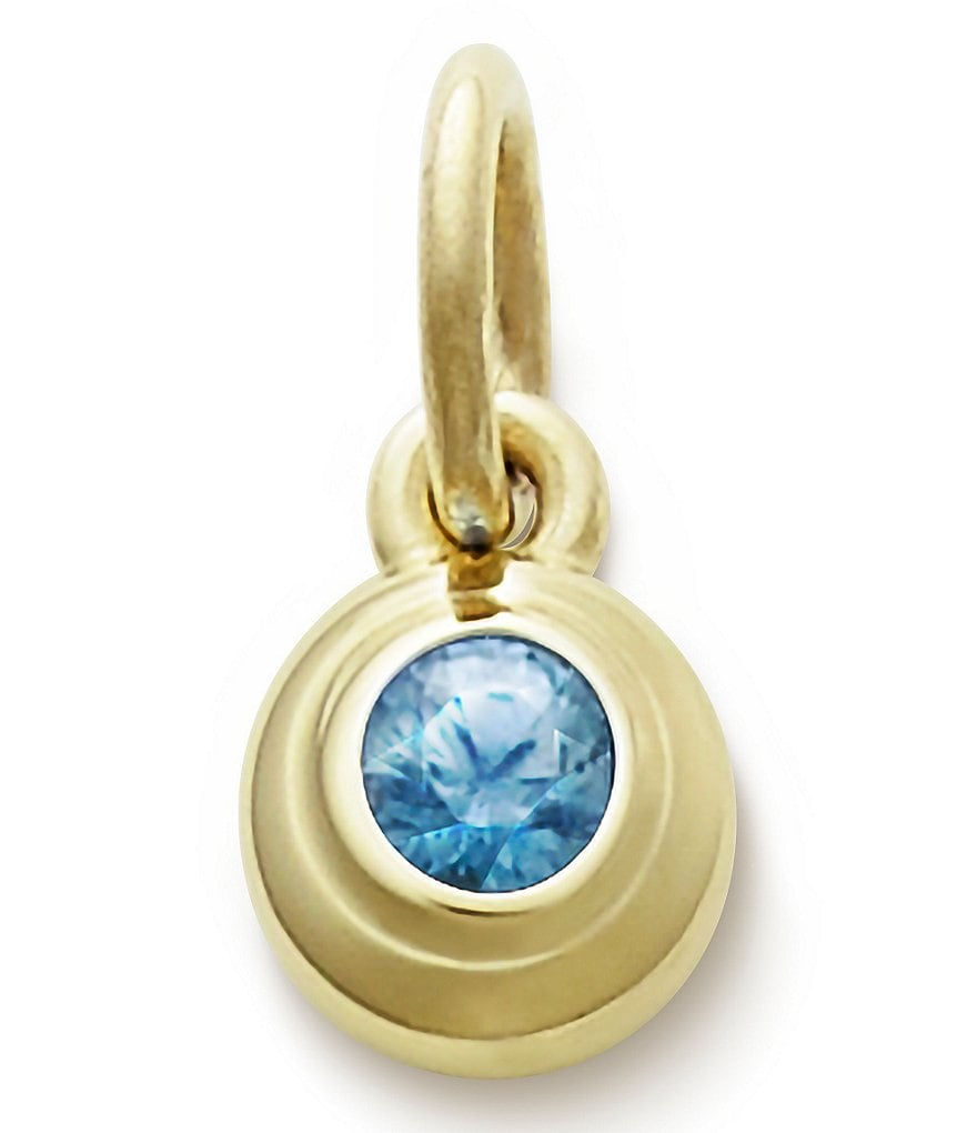 James Avery Remembrance Pendant December Birthstone with Blue Zircon