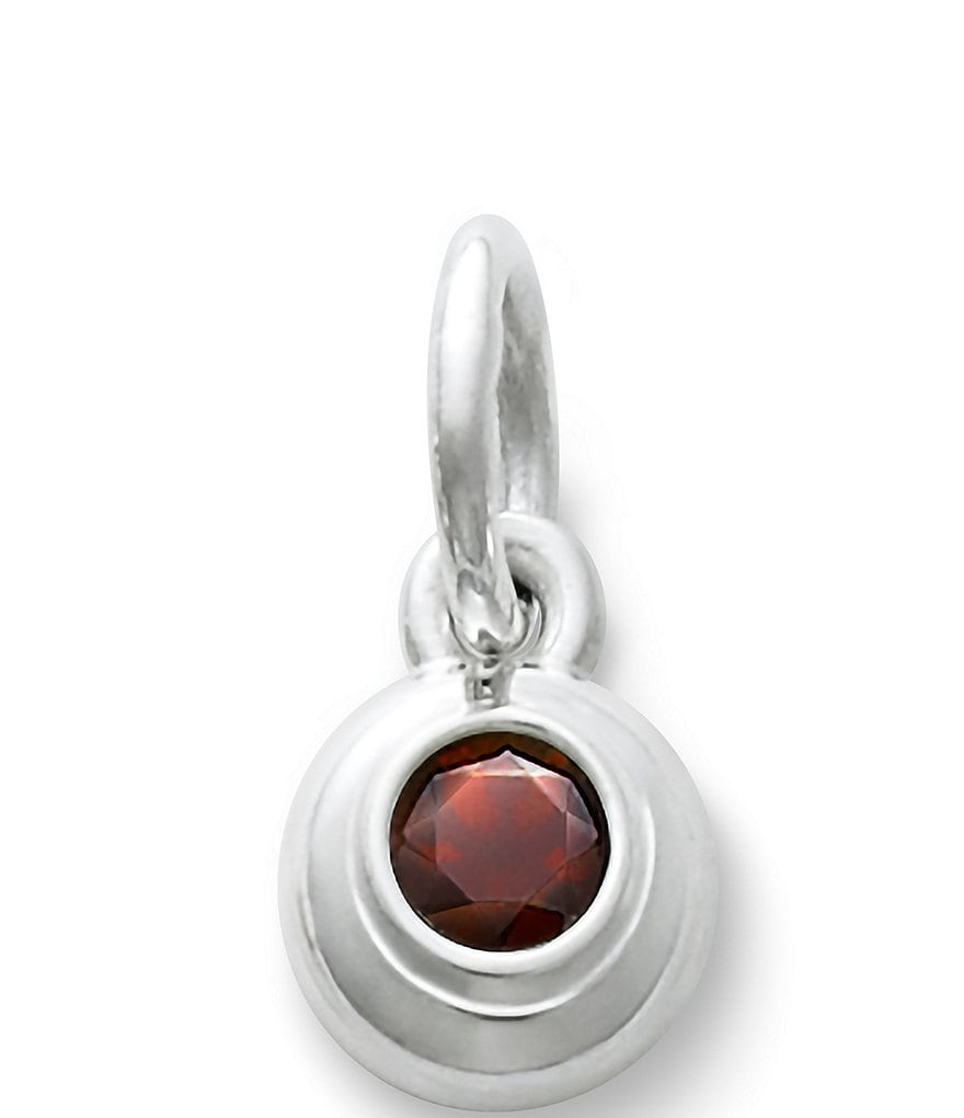 James Avery Remembrance Pendant January Birthstone with Garnet