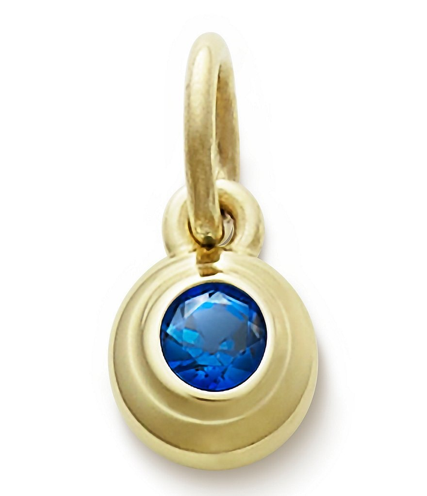 James Avery Remembrance Pendant September Birthstone with Lab-Created Blue Sapphire