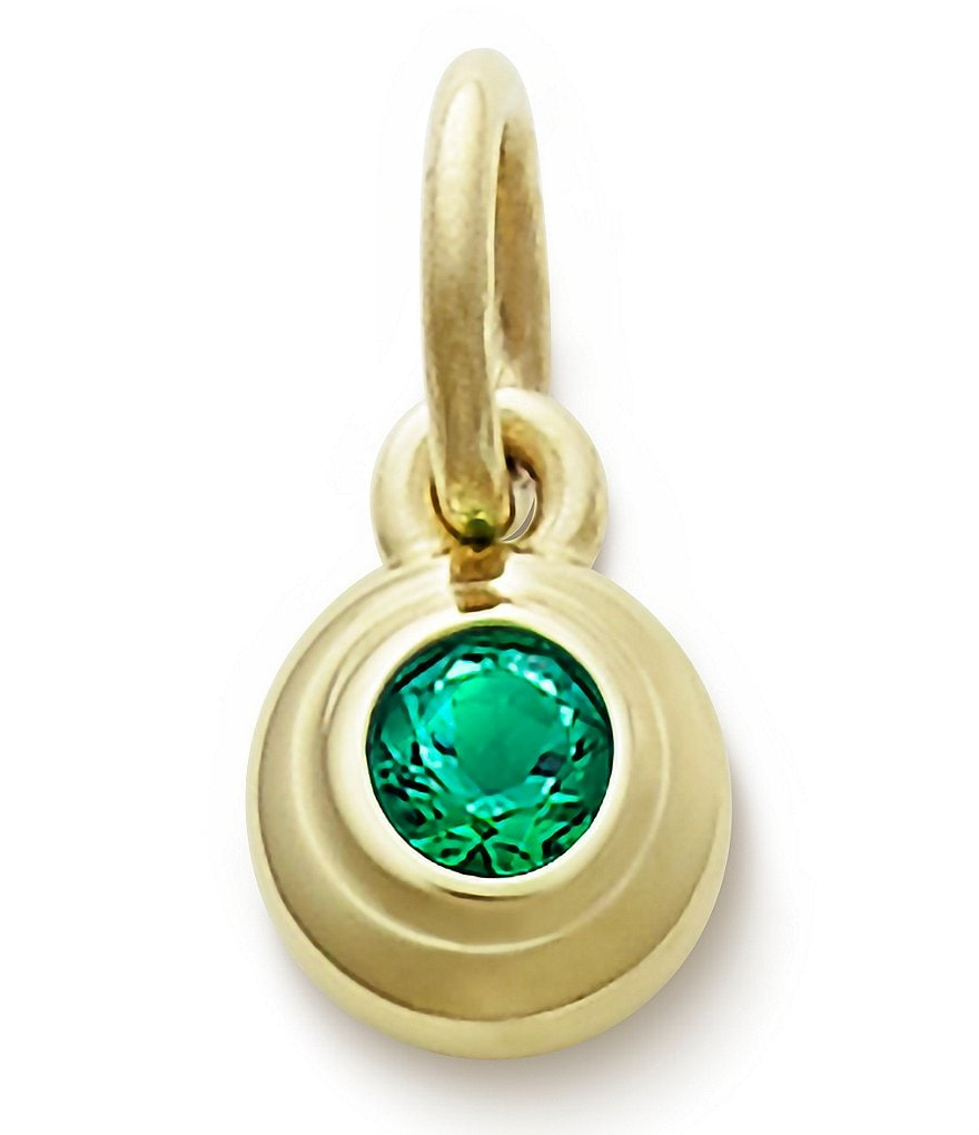 James Avery Remembrance Pendant with Lab-Created Emerald