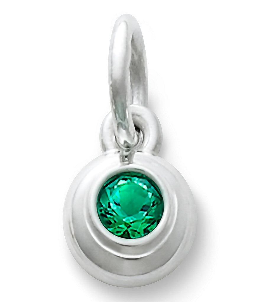 James Avery Remembrance Pendant May Birthstone with Lab-Created Emerald