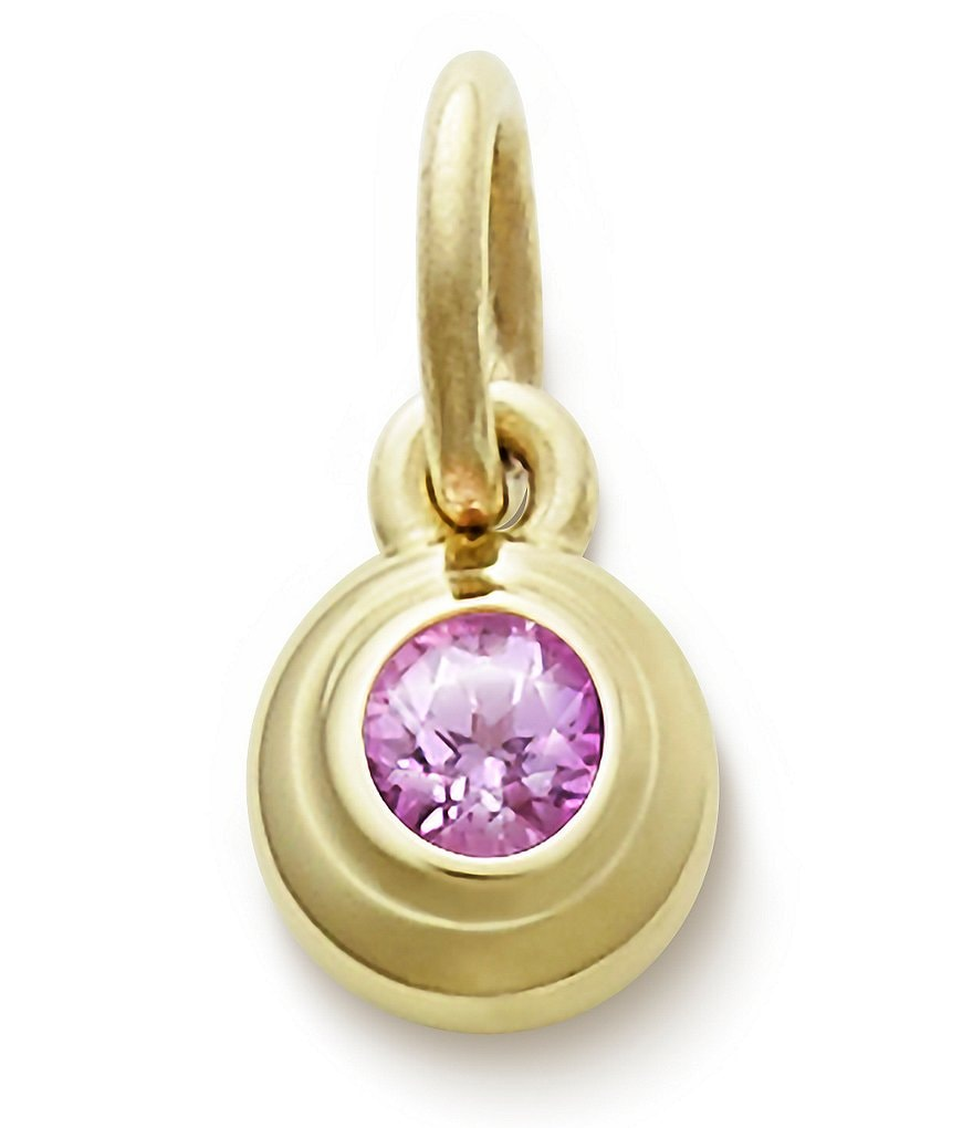 James Avery Remembrance Pendant October Birthstone with Lab-Created Pink Sapphire