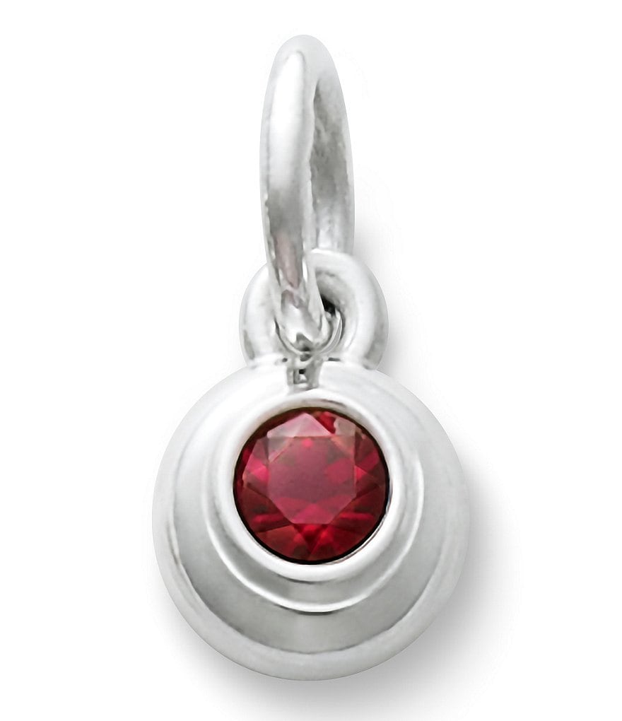James Avery Remembrance Pendant July Birthstone with Lab-Created Ruby