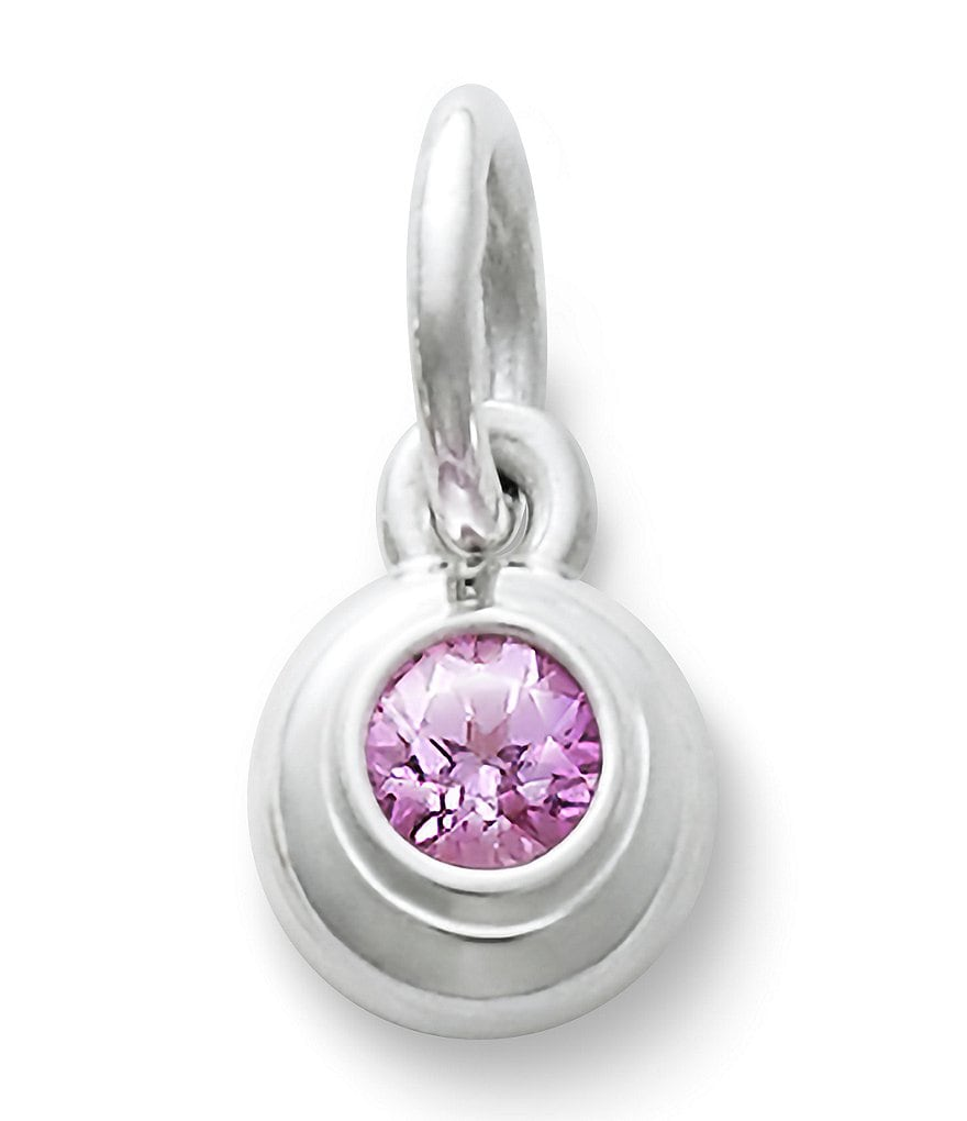 James Avery Remembrance Pendant October Birthstone with Pink Sapphire