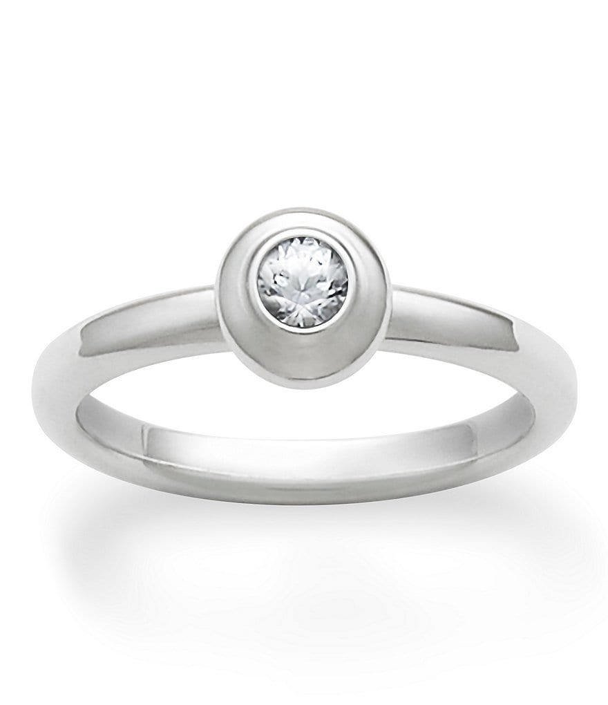 James Avery Remembrance Ring April Birthstone with Lab-Created White Sapphire