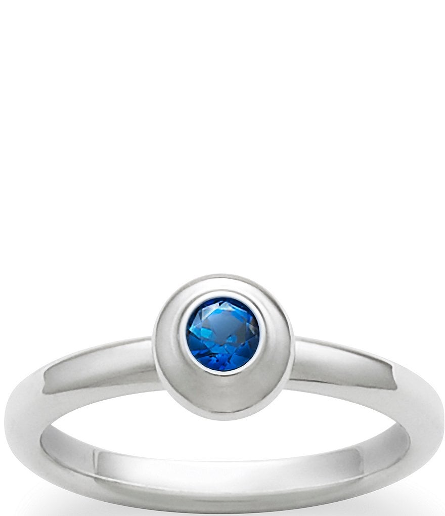 James Avery Remembrance Ring September Birthstone with Lab-Created Blue Sapphire