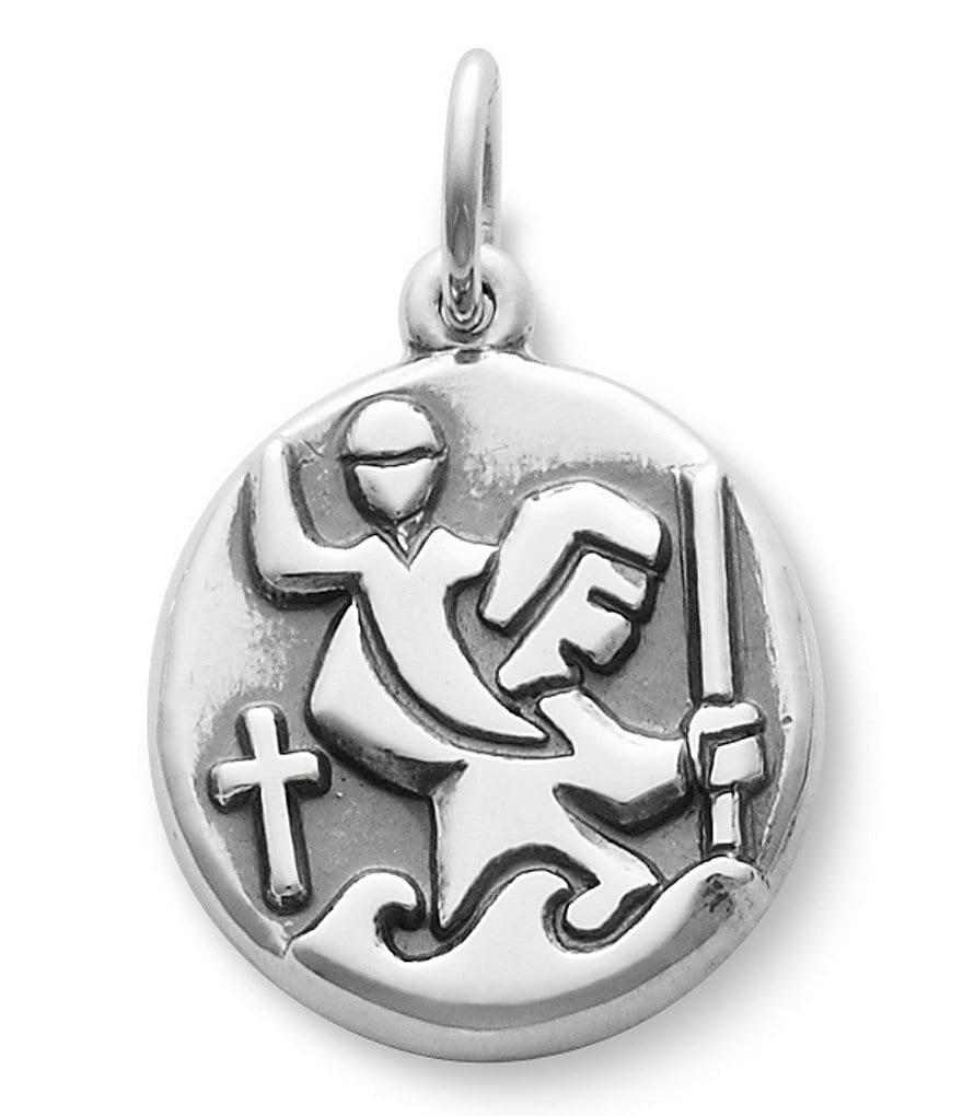 James Avery Round St. Christopher Medal Charm