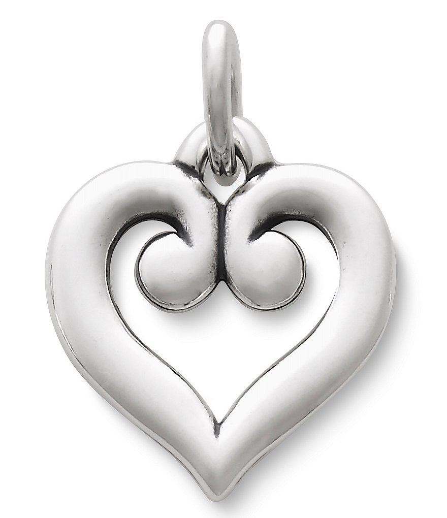 James Avery Scrolled Heart Charm