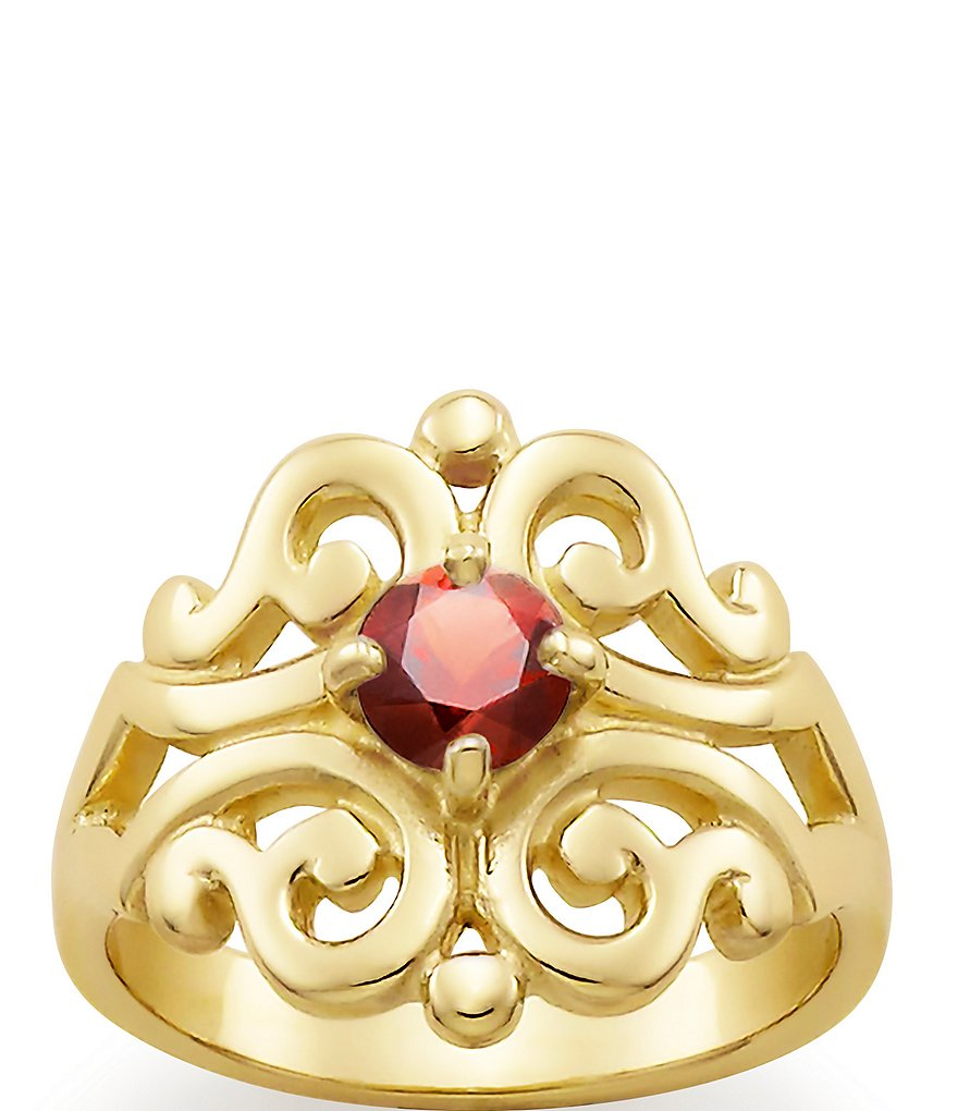 James Avery Spanish Lace Ring January Birthstone with Garnet