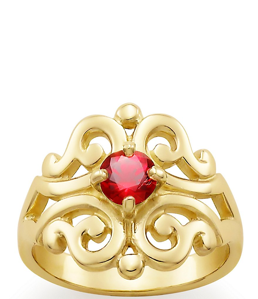 James Avery Spanish Lace Ring July Birthstone with Lab-Created Ruby