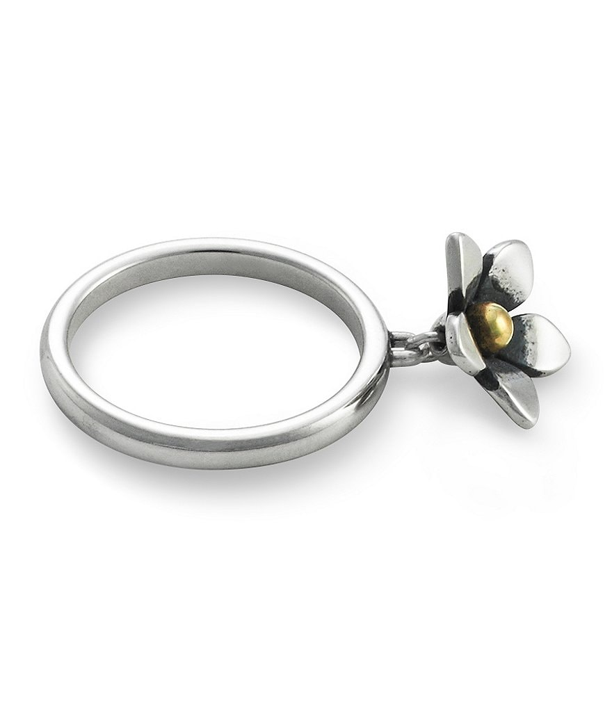 James Avery Stackable Flower Dangle Ring