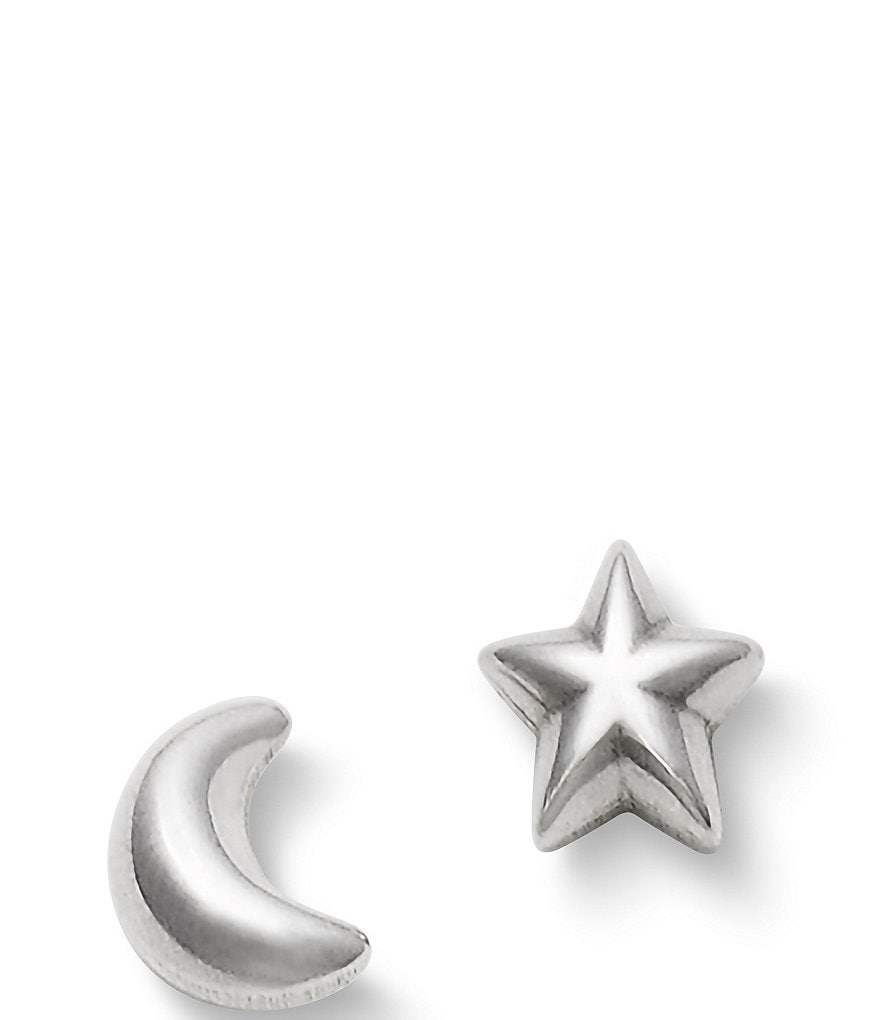 James Avery Starry Night Sterling Silver Mismatched Earrings