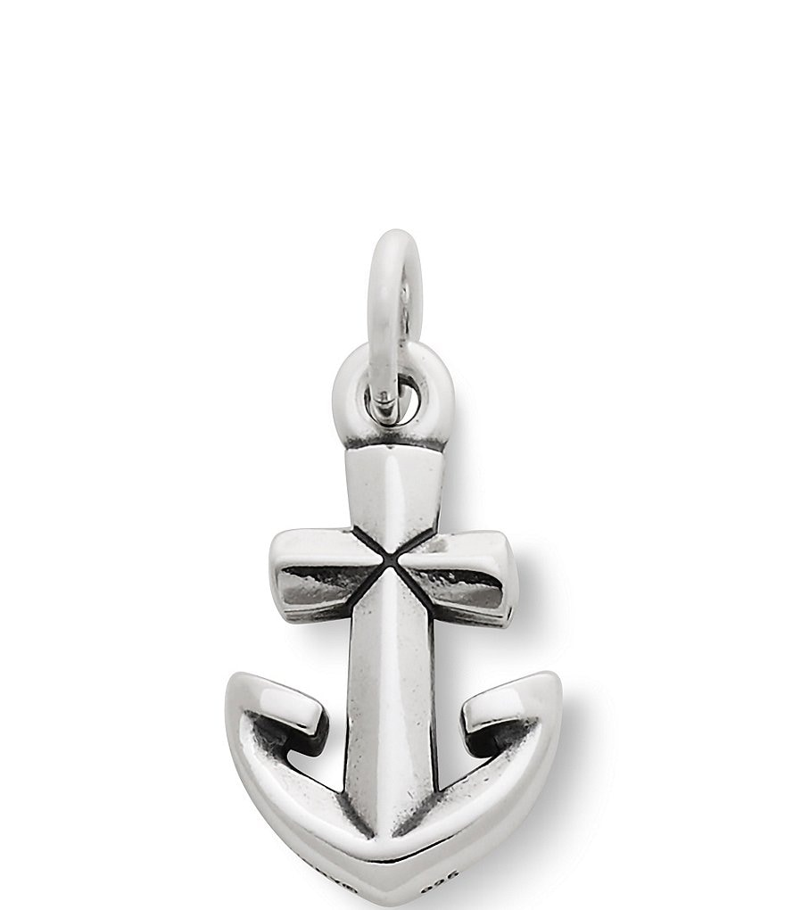James Avery Sterling Silver Anchor Cross Charm