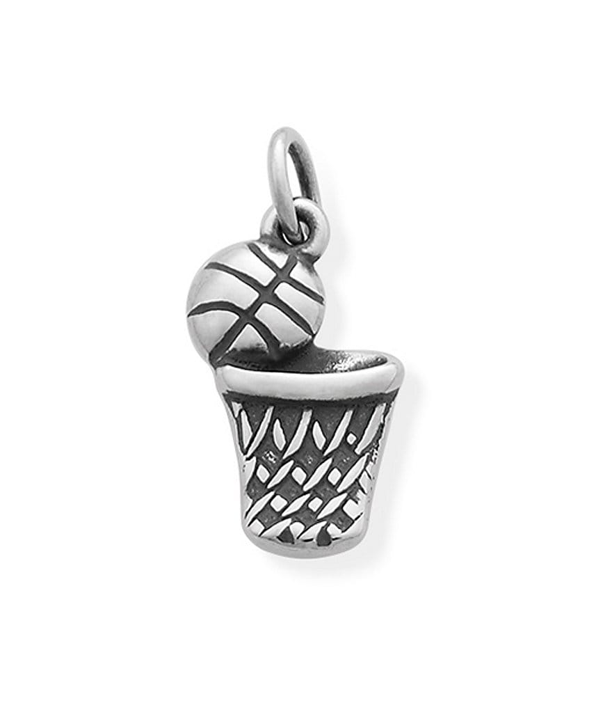 James Avery Sterling Silver Basketball & Hoop Charm
