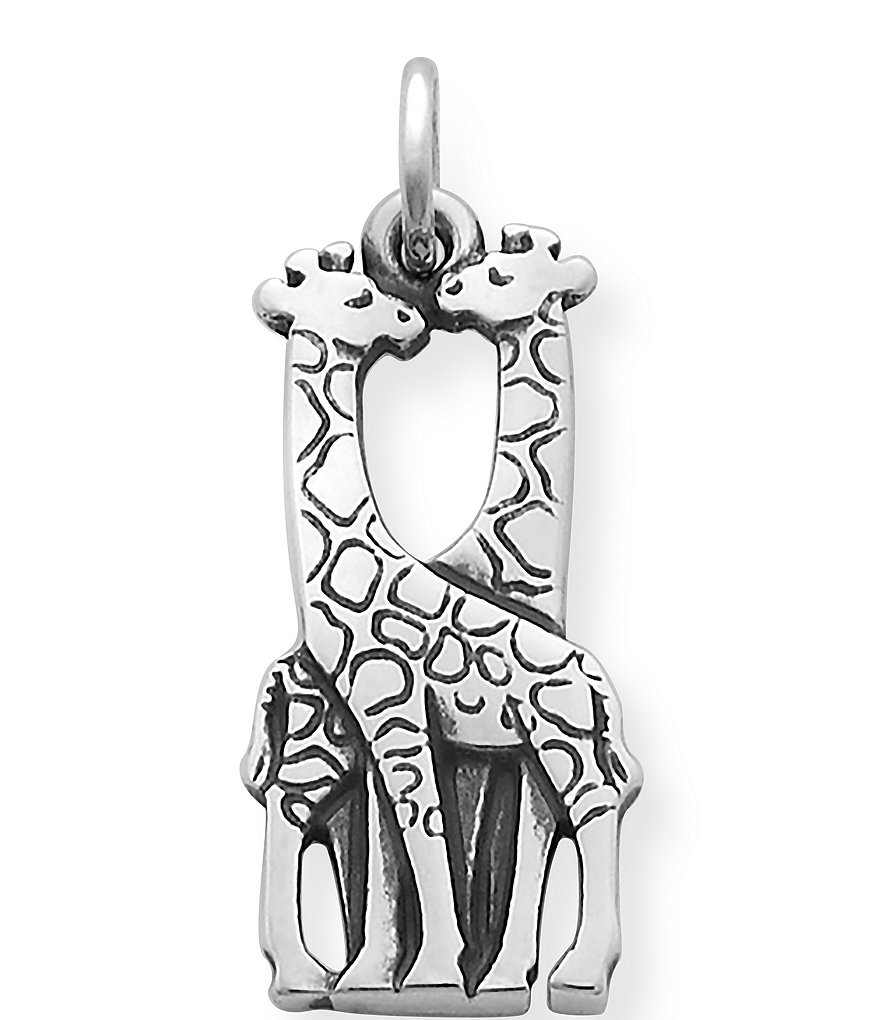 James Avery Sterling Silver Giraffes Charm