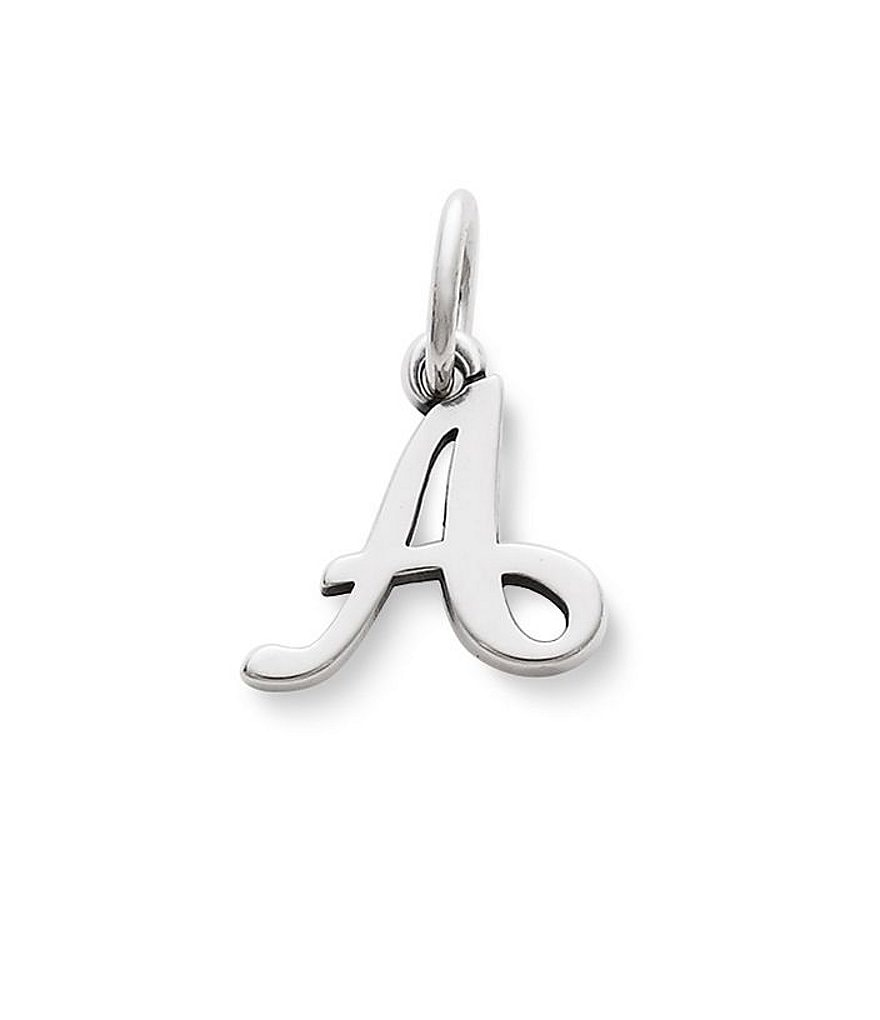 James Avery Sterling Silver Script Initial Bracelet or Necklace Charm