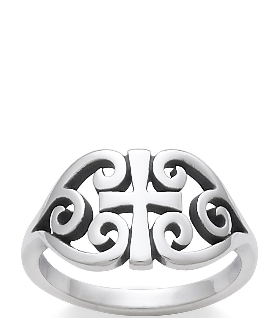 James Avery Sterling Silver Scroll Cross Ring