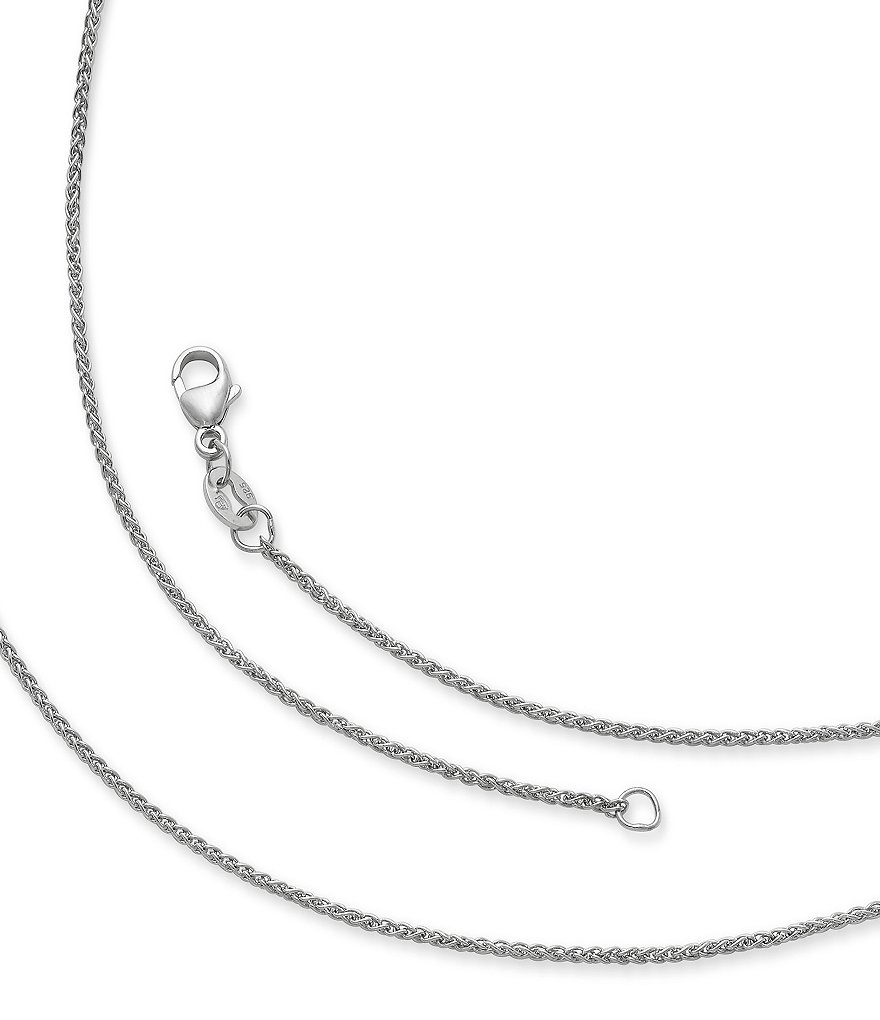 the to spiga skip end inch wheat necklace sterling images chain gallery of silver mm s children chains