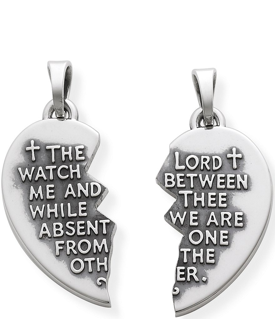 James Avery Sterling Silver Watch Over Thee Scripture Prayer Pendant