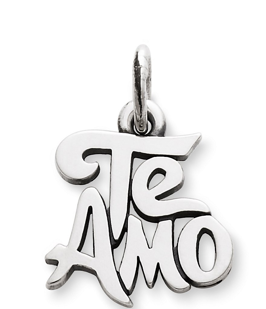 James Avery Te Amo Sterling Silver Charm