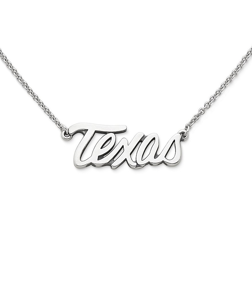 James Avery Texas Script Necklace