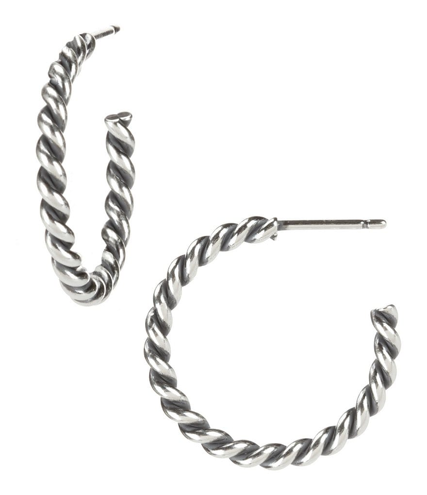 James Avery Twisted Wire Hoop Earrings