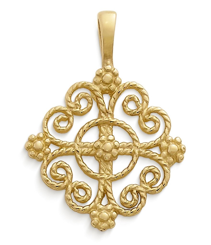 James Avery Twisted Wire Lacy Cross Charm