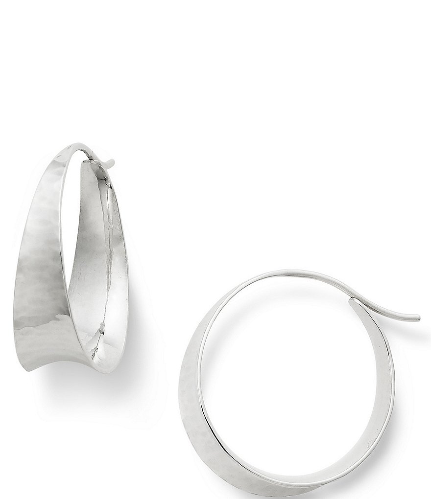 James Avery Valle Hammered Sterling Silver Hoop Earrings