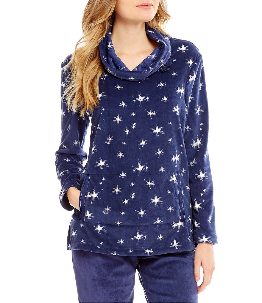 Jasmine & Ginger Star-Print Terry Lounge Top