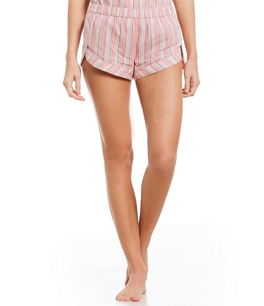 Jasmine & Ginger Striped Woven Sleep Shorts