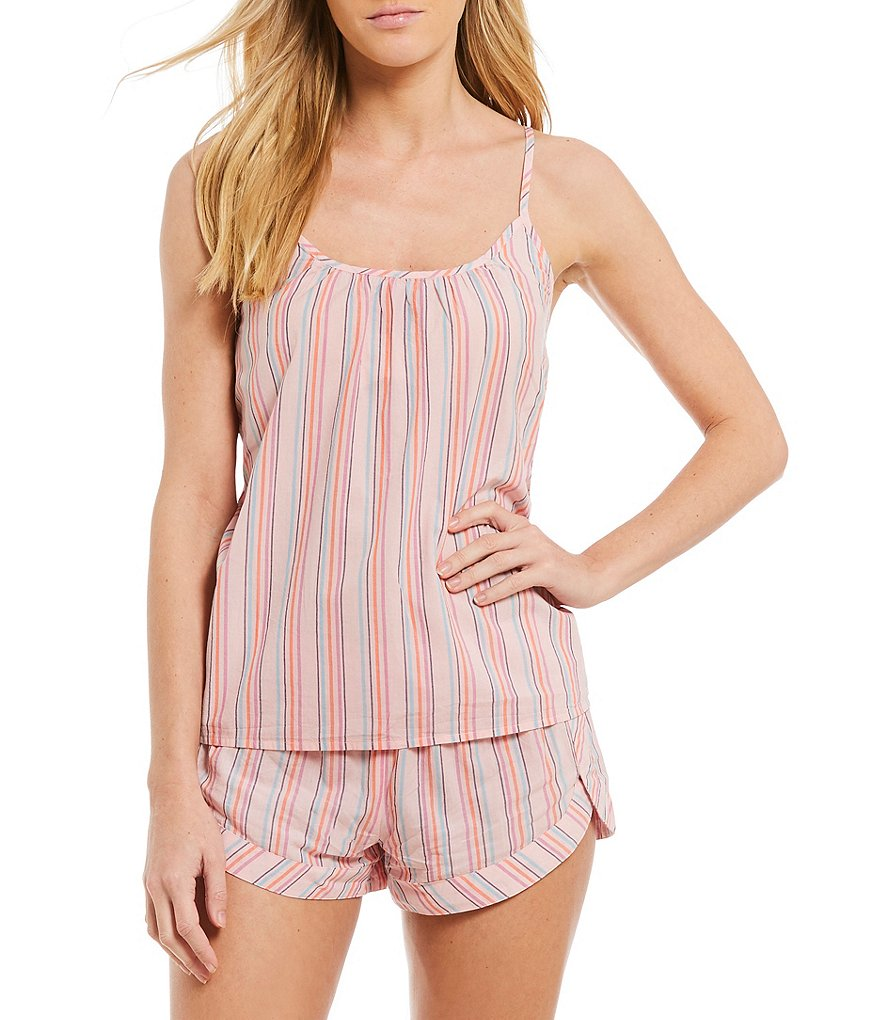 Jasmine & Ginger Striped Woven Sleep Tank