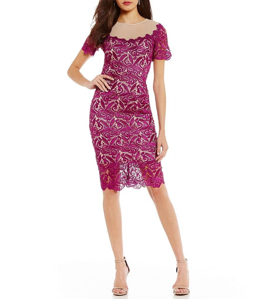 Jax illusion lace sheath dress dillards jax illusion lace sheath dress ombrellifo Gallery