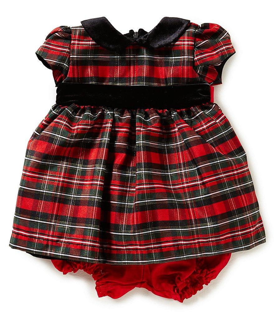 jayne copeland baby girls 3 24 months christmas plaid dress - Christmas Plaid Dress